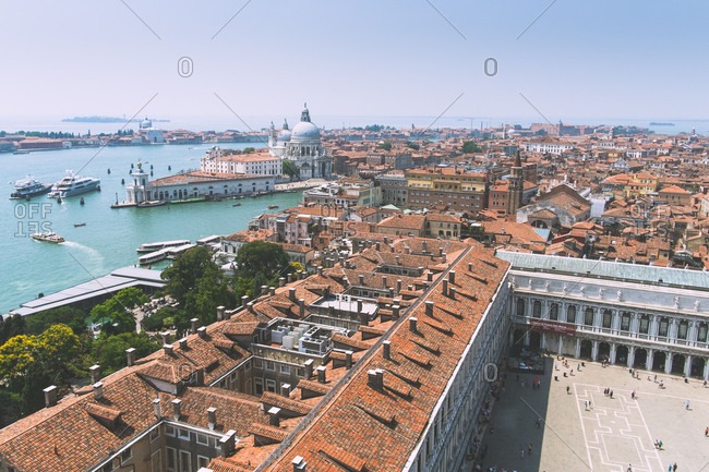 Venice, Italy seen from the bell tower in St Marks Square