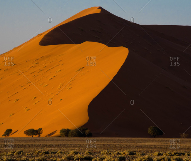 A sand dune in desert setting