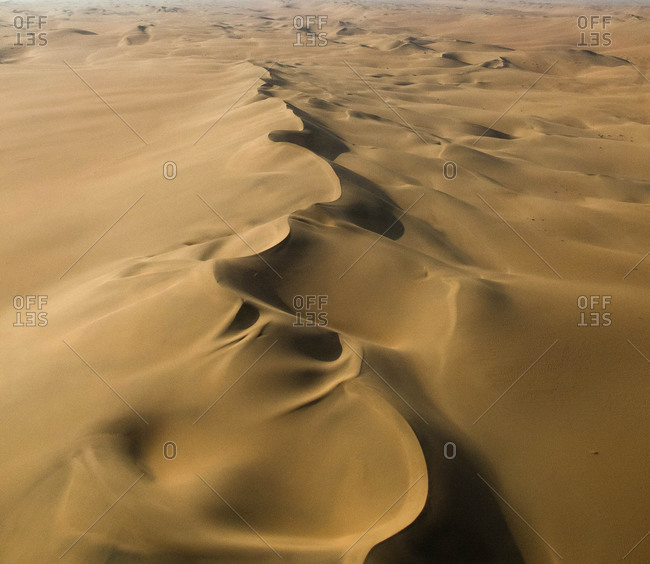 Sand dunes in vast dessert