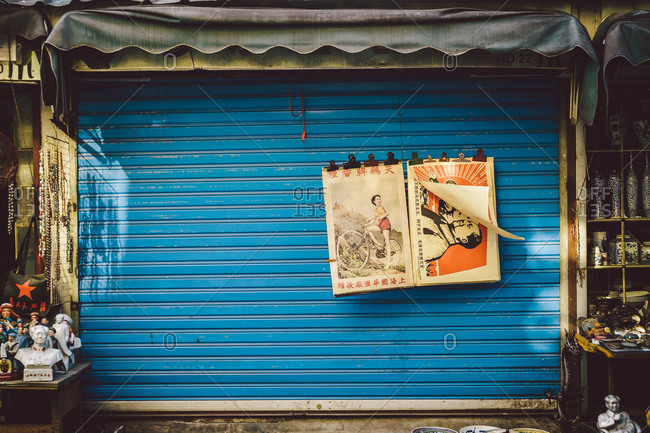 Souvenirs and memorabilia at a shop in Shanghai, China
