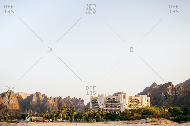 Muscat, Oman - March 7, 2013: Al Bustan Palace hotel