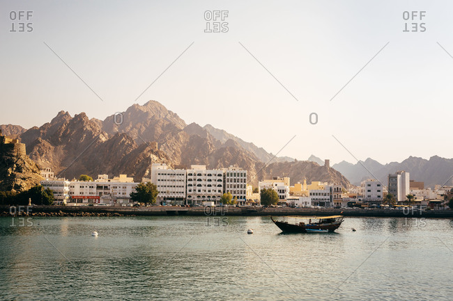Waterfront of the city of Muscat in Oman