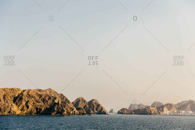 View of Fort al-Jalali, the Gulf of Oman and Muscat, Oman