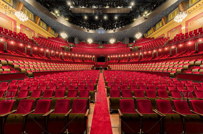 Amsterdam, Netherlands - November 26, 2015: View of the interior of the Royal Theater Carre in Amsterdam, Netherlands