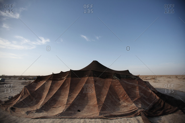 Tent in south Iran desert