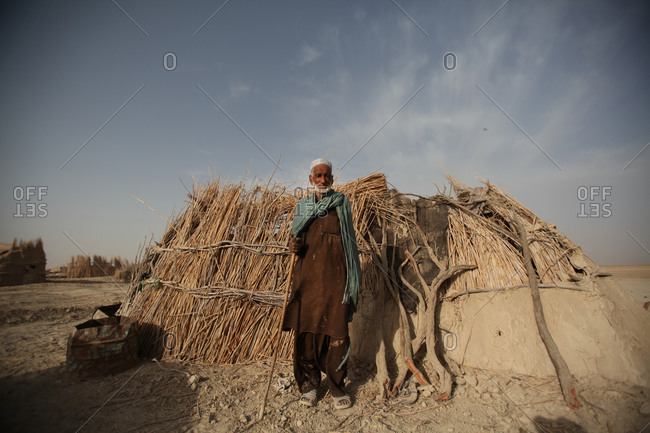 Iranian man standing in a village in south Iran