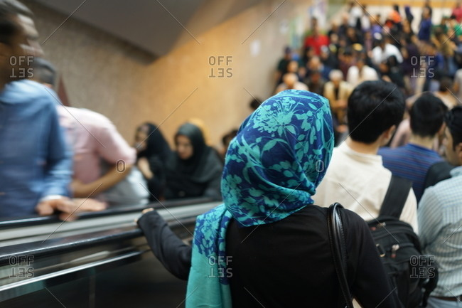 Busy metro station in Tehran