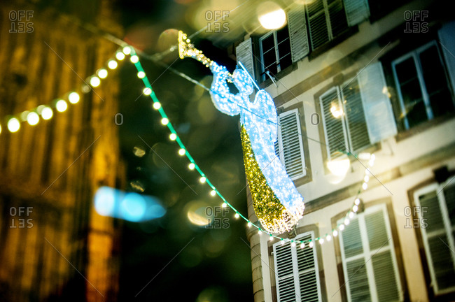 Angel decoration at the Christmas market in Strasbourg, France