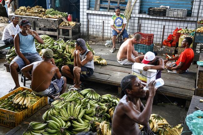 Salvador, Bahia, Brazil - March 14, 2010: Sao Joaquim market
