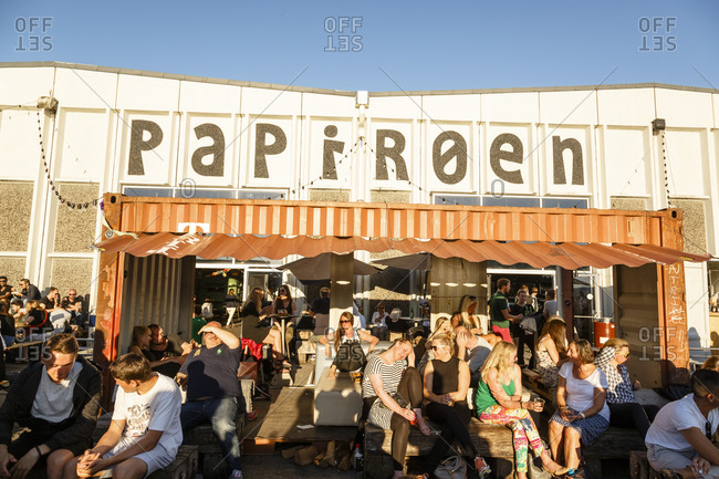 Copenhagen, Denmark - July 1, 2015: Copenhagen Street Food located at Papiroen