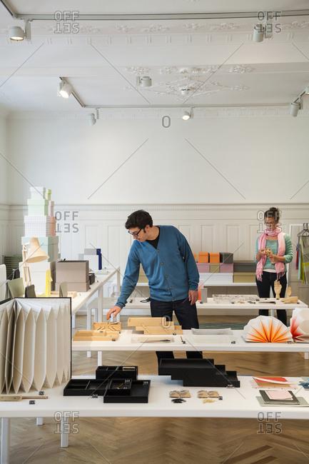 Copenhagen, Denmark -  August 13, 2012: Customers in Hay House store