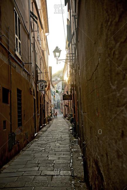 Narrow alley in Savona, Italy
