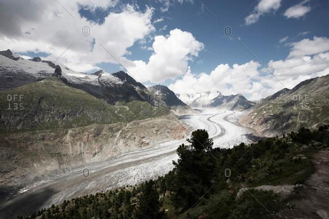 Aletsch Glacier in Switzerland