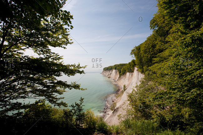 Coastal chalk cliffs in Germany