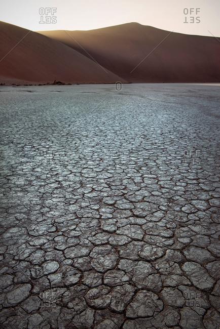 Cracked earth desert in Namibia