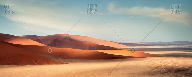 Sand dunes and Namibian desert