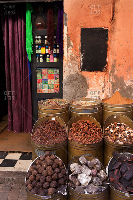 Spices outside shop in Morocco