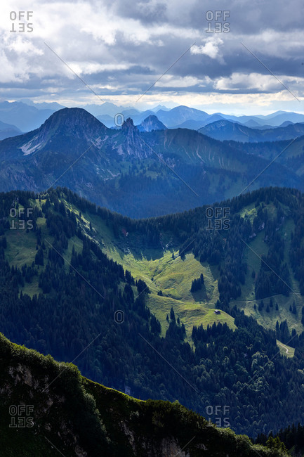Expansive view of Bavarian alps