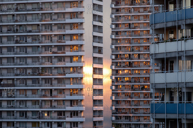 Modern apartment building blocks in Berlin