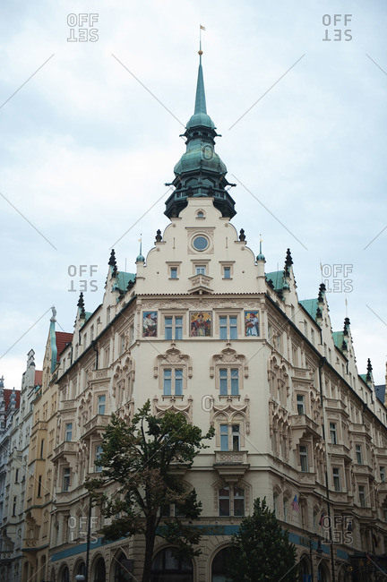 Tall building in Prague, Czech Republic