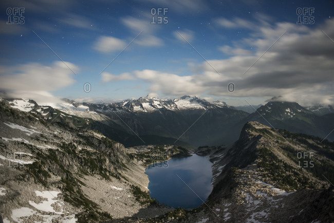 View from Hidden Lake Peak Fire Lookout in Washington