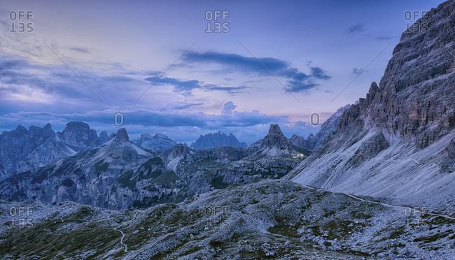 Tre Cime di Lavaredo peaks in Italy