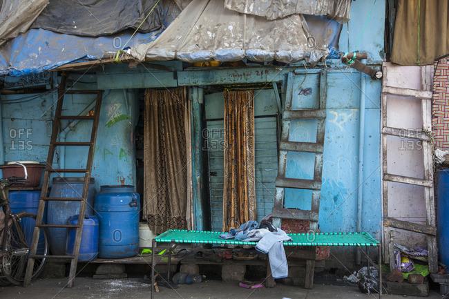 Shack in Mumbai, India