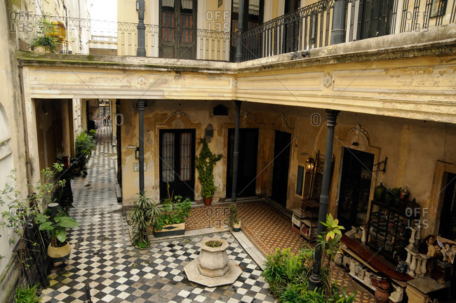 Courtyard in traditional building in Buenos Aires