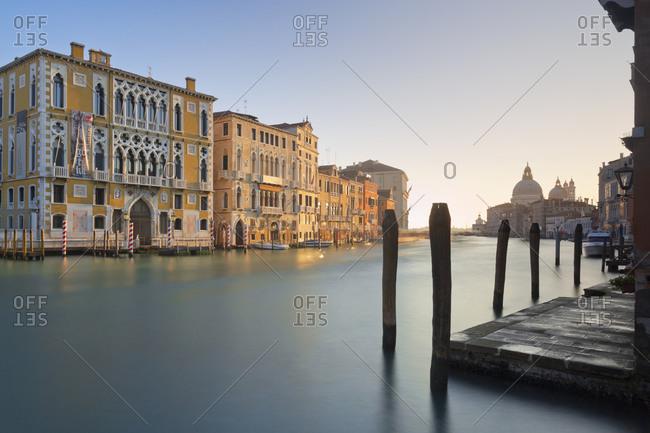 Grand Canal and the Palazzo Cavalli-Franchetti in Venice