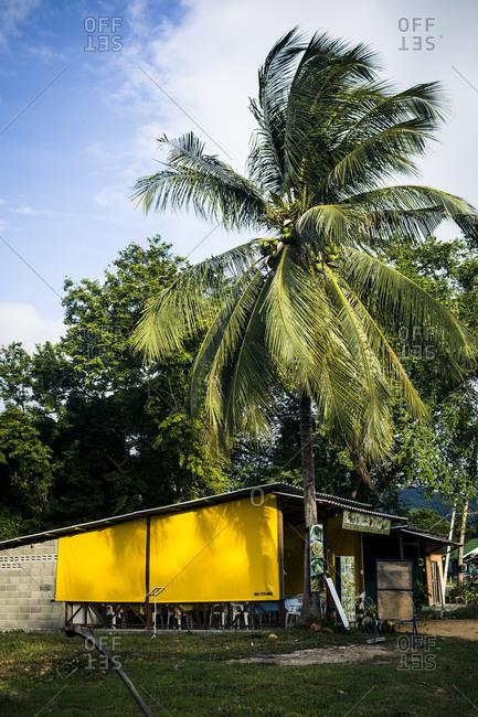 Small restaurant in rural Thailand