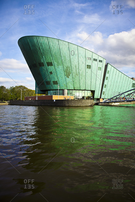 Exterior of the Science Center Nemo in Amsterdam