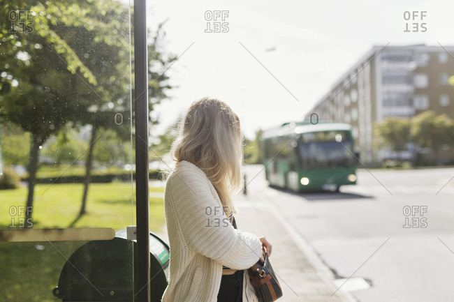 Women waiting for the bus