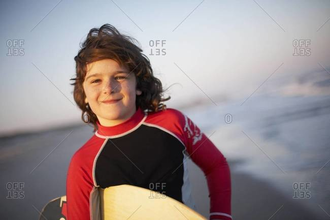 Portrait of a young surfer