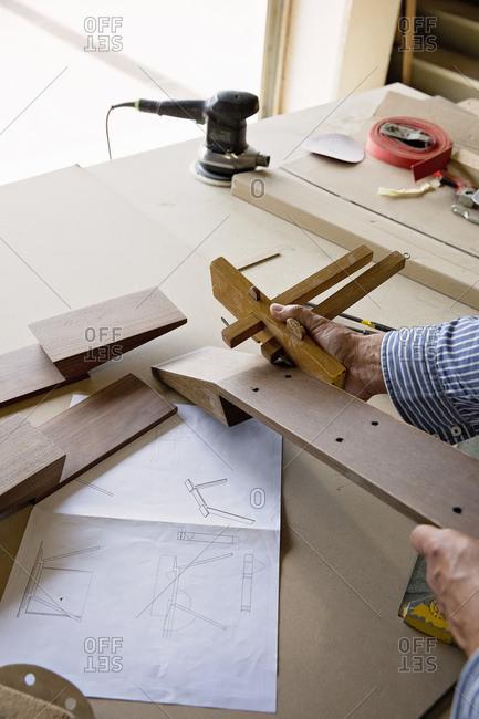 Man using a wood plane