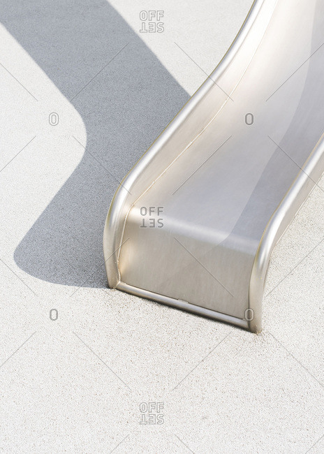 Metal slide on a sunny day