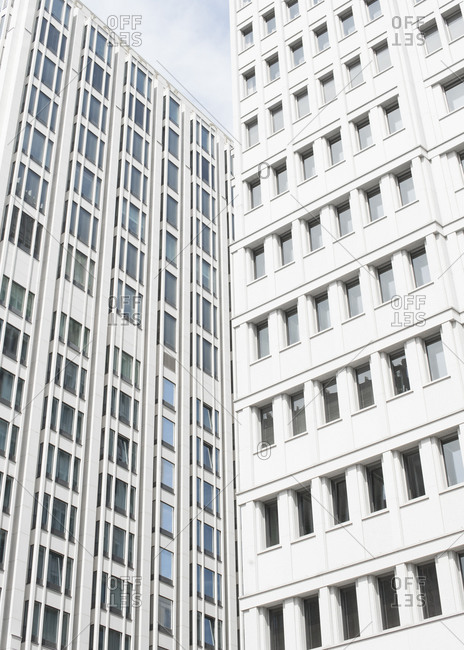 Tall buildings with many windows
