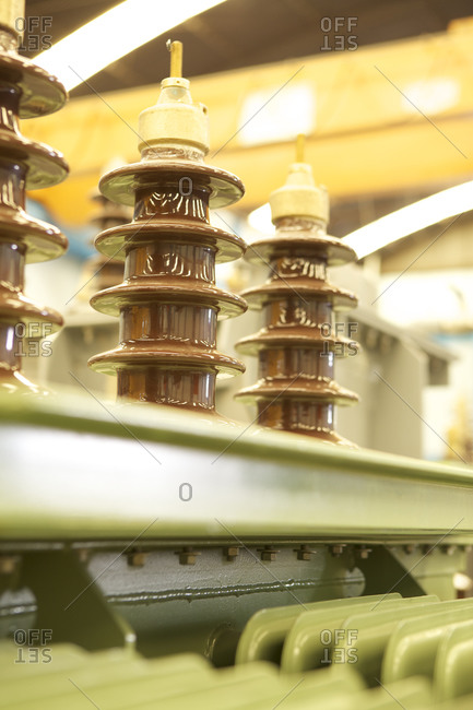 Detail of components of electrical transformers