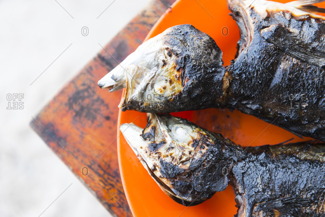 Barbecued fish at a beach cafe on Phu Quoc Island, Vietnam