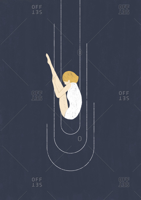 Girl plunging into the dark