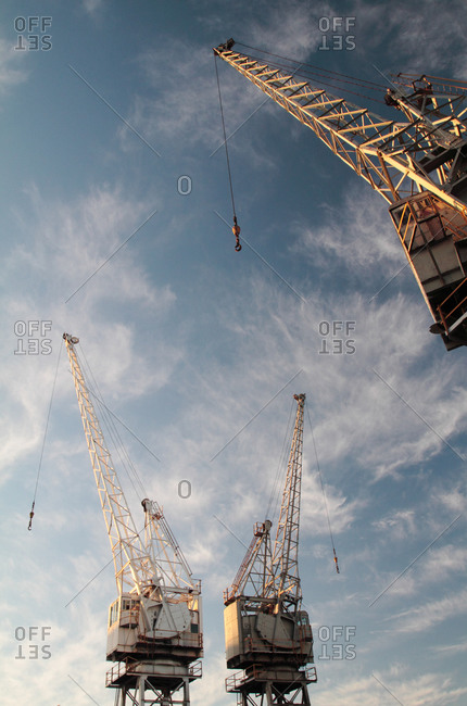 Cranes at Victoria and Albert docks, Cape Town, South Africa