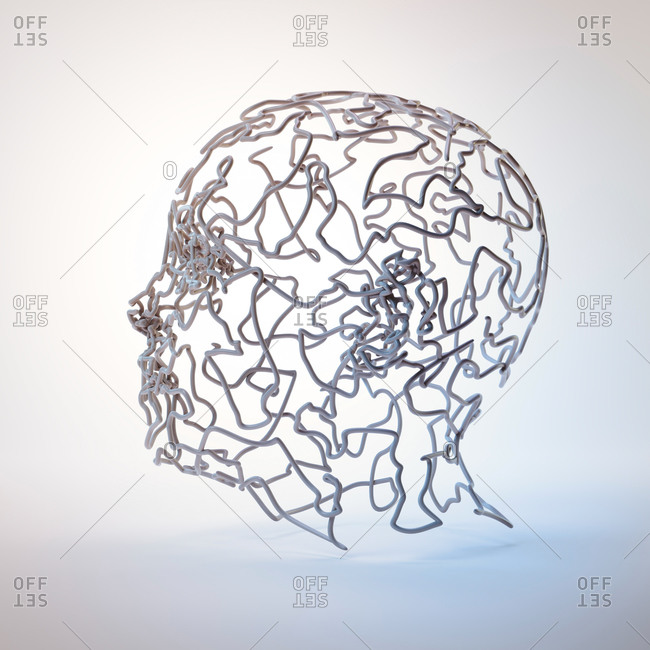 Human head, conceptual illustration