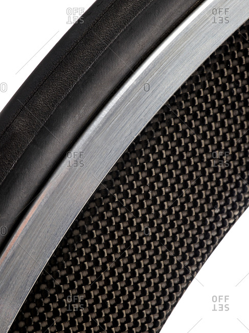 Carbon fiber bicycle wheel, close up
