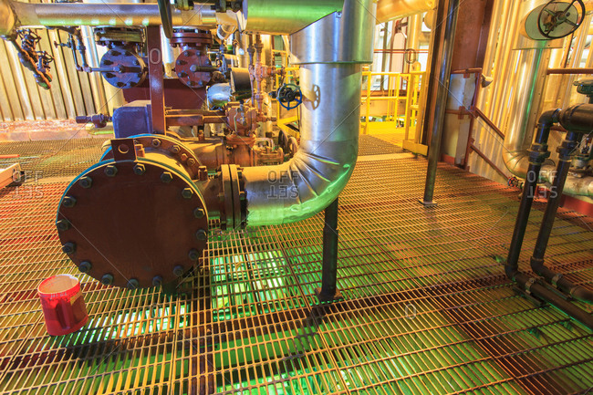 Caustic and acid mixing area of electric power plant