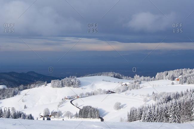 Schauinsland Germany in winter
