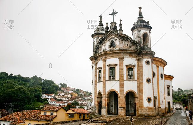 Ouro Preto, Brazil - March 3, 2010: Igreja Nossa Senhora do Rosario church, Ouro Preto, Brazil