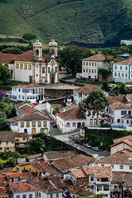 A view over the city of Ouro Preto, Brazil