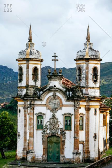 Ouro Preto, Brazil - March 3, 2010: Sao Francisco de Assis church, Ouro Preto, Brazil