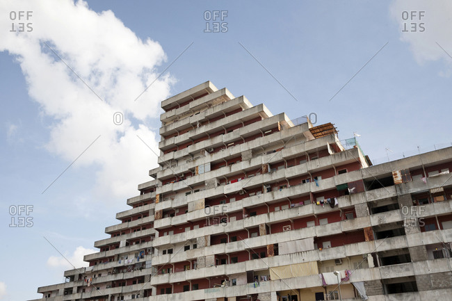 Vele di Scampia, or the Sails of Scampia, near Naples, Italy