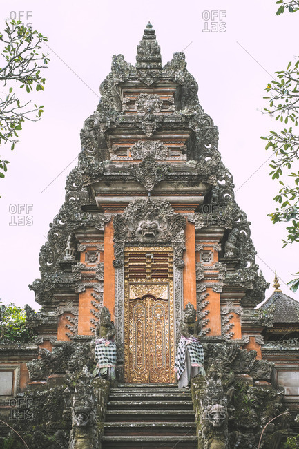 Gold decorated doors in Ubud, Bali