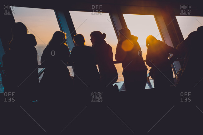 Berlin, Germany - February 28, 2015: The observation deck at the top of a tower in Berlin, Germany